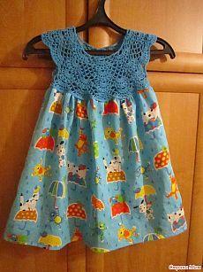 """Платье """"Зонтики"""" - """"Шью - вяжу - соединяю""""))...или """"Комбинированные вещи""""...или """"Сочетание вязания и шитья"""" - Страна Мам"""