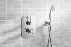 Add a designer element to traditional bathrooms - Belgravia Lever thermostatic shower valve from Crosswater Bathrooms UK. http://www.crosswater.co.uk/product/showering-shower-valves-valve-collections-belgravia-lever/belgravia-lever-thermostatic-shower-valve-bel-1000-lv/