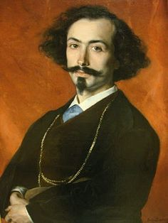 Charming Portrait of the Spanish artist, Moreno by Carolus Duran (1837 - 1917)