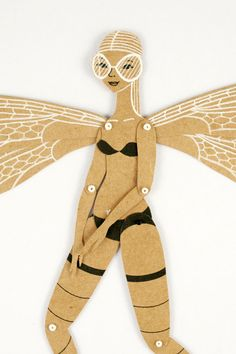Dragonfly  Articulated Paper Doll by Dubrovskaya by dubrovskaya, $23.00