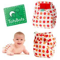 Tots Bots EasyFit Nappy - Fox n Spots www.darlingsdownunder.com.au/main.php?mod=Shop=Index=295= Cloth Nappies, Diapering, Lunch Box, Shopping, Bento Box