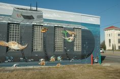 Interim Director for Norfolk's Department of Development Chuck Rigney cites this Norfolk-centric mural on the Renova building as a positive example of public art