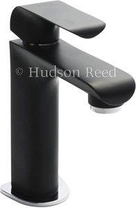 Hudson Reed Hero Basin Tap (Black & Chrome). #taps www.taps4less.com