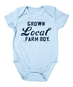 Love this Baby Blue 'Grown Local' Bodysuit - Infant by Farm Boy on #zulily! #zulilyfinds