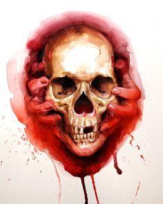 Bloody Valentine by Shawn Barber http://www.skullspiration.com/bloody-valentine/