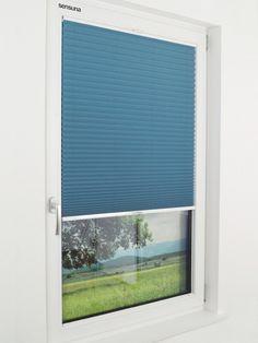 sensuna® plissee gardinen am schlafzimmer fenster | pleated blinds ... - Schlafzimmer Fenster