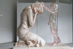 This picture is from a Monument in honor of the unborn children victims of abortion. Shows the sorrow and regret of the mother, and the love and forgiveness of her unborn child. Monument in Slovakia. Cemetery Art, Cemetery Monuments, Art Sculpture, Losing A Child, Missing Child, After Life, Wow Art, Cristiano, Mother And Child