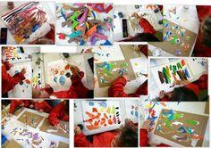 les petites têtes de l'art: Collages et impressions inspirés par Imi Knoebel