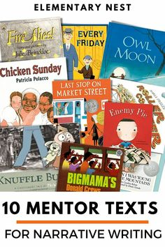 These ten mentor texts will help make your Narrative Writing unit so much more fun and engaging for your students. Check out these recommended books for your Opinion Writing unit. These book sets are quality examples for clear, engaging narrative writing. Writing Mentor Texts, Narrative Writing, Informational Writing, Opinion Writing, Writing Lessons, Teaching Writing, Student Teaching, Writing Ideas, Writing Activities