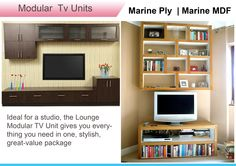 Ideal for a studio, the Lounge Modular #TVUnit gives you everything you need in one, stylish, great-value package.