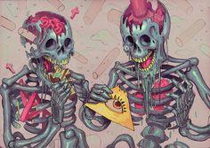 Illustrations from Josan Gonzalez 's Stupid Dreams series.