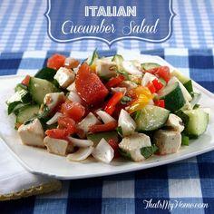 Italian Cucumber Salad - That's My Home