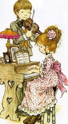28 Ideas for basket illustration sarah kay Sarah Key, Holly Hobbie, Vintage Pictures, Cute Pictures, Decoupage, Creation Art, Hobby Horse, Thomas Kinkade, Illustrations