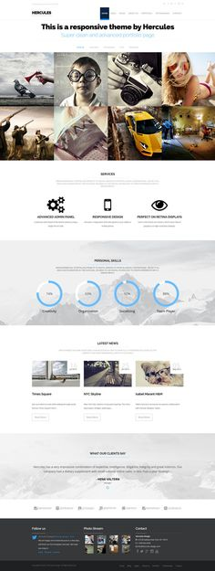 Hercules - Portfolio & Business WordPress Theme by  haşim ekinci