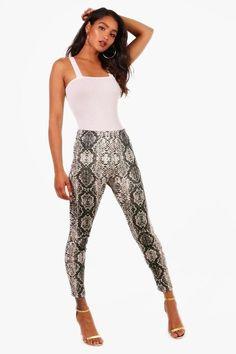 boohoo Scarlet Snakeskin Print Velvet Leggings Velvet Leggings 602e6b513