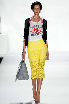 Rebecca Minkoff #NYFW S/S 2014 Love the mexican style of this runway!