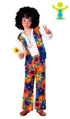 Disfraz de Hippie Colorido infantil