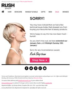 'I'm Sorry' emails are a great way to re-engage with customers. #emailmarketing #emails #sorryemail
