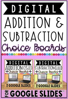 This bundle includes both the 3-digit ADDITION and SUBTRACTION digital choice boards, or choice menus, for Google Drive™ that are also listed separately in my store. These choice boards contain engaging and paperless activities for students to use and practice addition up to 1,000 and subtraction of 3 digital numbers with regrouping. It makes a great way to differentiate for all learners! Students must have their own Google account in order to use this product. Teaching Time, Teaching Math, Teaching Ideas, Teacher Tools, Teacher Hacks, Classroom Resources, Teacher Resources, Second Grade Math, Third Grade
