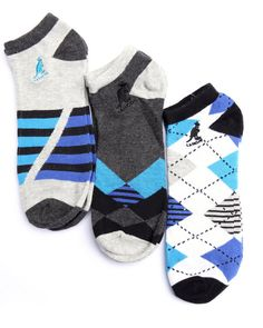 Find Arguile Way 3Pk No Show Socks Men's Accessories from Kangol & more at DrJays. on Drjays.com