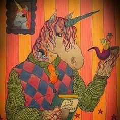 """Instagram photo by robymgr - """"The Last Unicorn.."""" #art#arte#illustration#illustrazione#sketch#stabilopens#stabilo#draw#drawing#horse#unicorn#unicorno#cavallo#fairy#book#artwork#portrait"""
