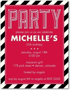 3D Party - Adult Birthday Party Invitations - Magnolia Press - Bay - Green : Front