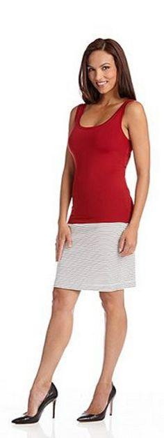Red Karen Kane Super Soft Tank Top #Red #Karen_Kane #Super_Soft #Tank_Top