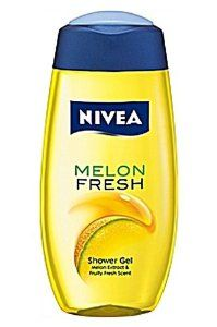 Nivea Melon Fresh Shower Gel 200ml shower gel by NIVEA. $4.99. 200 ml shower gel. Please read all label information on delivery.. Country of origin: Germany. A fresh melon sensation in your shower. Let the sweet fresh scent of melon uplift your senses, while the caring transparent gel with natural melon extracts turns into tender foam and pampers your body ? for a soft fresh sensation on your skin.