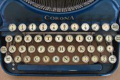 Blue Corona Typewriter