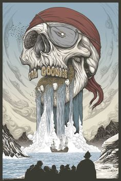 THE GOONIES – SUPERBE POSTER PAR RANDY ORTIZ