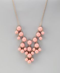 Take a look at this Light Pink & Gold Mini Bubble Necklace by 2 Crystal Chicks on #zulily today!