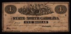 $1 North Carolina CSA Confederate Used