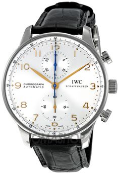 IWC Portuguese Silver Dial Chronograph Mechanical Mens Watch