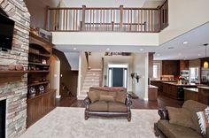 Open Floor Plan Custom Builders, Open Floor, Custom Homes, Bathrooms, Floor Plans, Loft, Flooring, Bed, Furniture