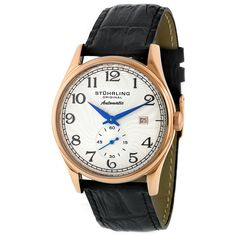 Stuhrling Original Cuvette Unisex 16K Rose Gold Plated Stainless Steel Thin Case Watch - Overstock™ Shopping - Big Discounts on Stuhrling Original Stuhrling Original Men's Watches