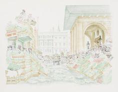 Artwork page for 'Piazza Looking South Past St Paul's', David Gentleman, 1972 David Gentleman, Printmaking, Past, Saints, Illustration, Artist, Artwork, Past Tense, Work Of Art