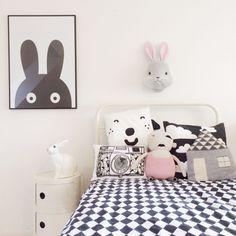 mommo design: WALL DECOR, for Mimi's room, Like the bunny décor on the wall Girl Room, Girls Bedroom, Baby Bedroom, Rooms Decoration, Boho Deco, Wall Decor, Room Decor, Wall Art, Kids Corner