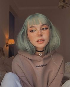 Aesthetic Hair, Aesthetic People, Aesthetic Makeup, Tumbrl Girls, Tyler The Creator, Dye My Hair, Grunge Style, Portrait, Hair Inspo