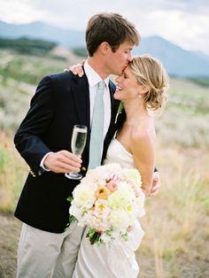 Champagne countryside wedding - mint, peach, & pink wedding