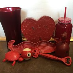 Red Love. #theclutterhouse #localaz #homedecor #red