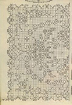 "Photo from album ""Burda special. Филейное вязание on Yandex. Crochet Tablecloth, Crochet Doilies, Crochet Lace, Filet Crochet Charts, Crochet Stitches, Crochet Patterns, Fillet Crochet, Palestinian Embroidery, Charts And Graphs"