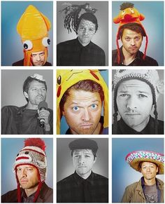 I have a feeling that I've pinned this before, but you can never have too much of Misha in hats.