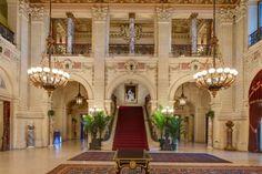 #Marblehouse #Newport . Summer residence of Alva and William Kissam Vanderbilt . #Interiordecoration by #JulesAllard #art #architecture #interiordesign #decor #19thcentury