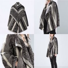 Zara open blanket coat size medium 64% wool and 36% polyester. Purchase from another posher who only wore it for a few hours. Additional information will be provided soon. Zara Jackets & Coats