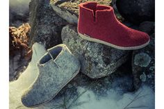 perfect slippers to get us through winter: Glerups blend Danish design with toasty, cozy, natural wool for kids