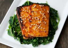 maple miso tofu recipe | use real butter