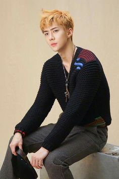 EXO @weareoneEXO [OFFICIAL] Twitter and Facebook Update with SEHUN for SuperELLE Magazine