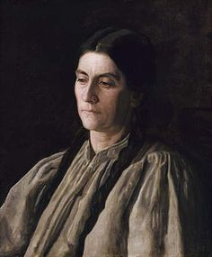 "Thomas Eakins, Mother, 24x20. Annie Williams Gandy, affectionately nicknamed ""Mother,"" was a close friend of Thomas Eakins and his wife. Collection of Smithsonian American Art Museum."