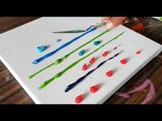 Acrylicpainting timelapse painting - abstract painting - acryl malen - floral art by zAcheR-fineT Abstract Painting Easy, Easy Landscape Paintings, Abstract Painting Techniques, Acrylic Painting For Beginners, Acrylic Painting Tutorials, Beginner Painting, Abstract Art, Poppy Flower Painting, Acrylic Painting Flowers