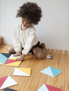 Geometric Tiles from Merrilee's book PLAYFUL. Photos by Nicole Gerulat #playfultoysandcrafts
